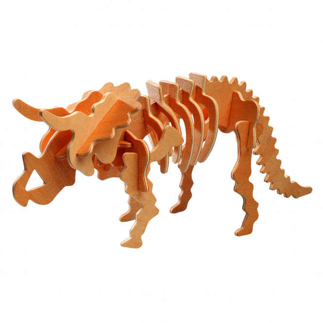 Besttoy - Holz-Modellbau - Dinosaurier - Triceratops