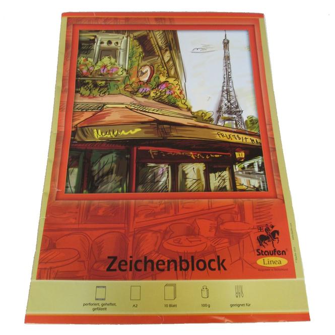 Zeichenblock - DIN A2 - 10 Blatt