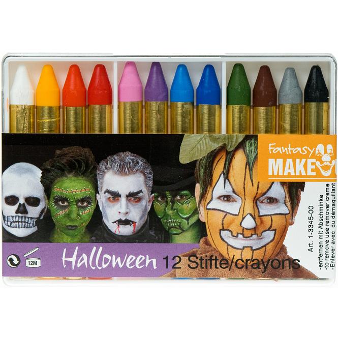 Halloween Schminkstifte, 12 Stück
