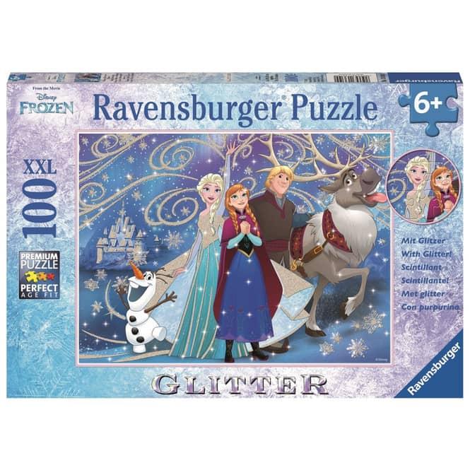 Puzzle - Die Eiskönigin - Glitzernder Schnee - 100 XXL Teile - Glitter