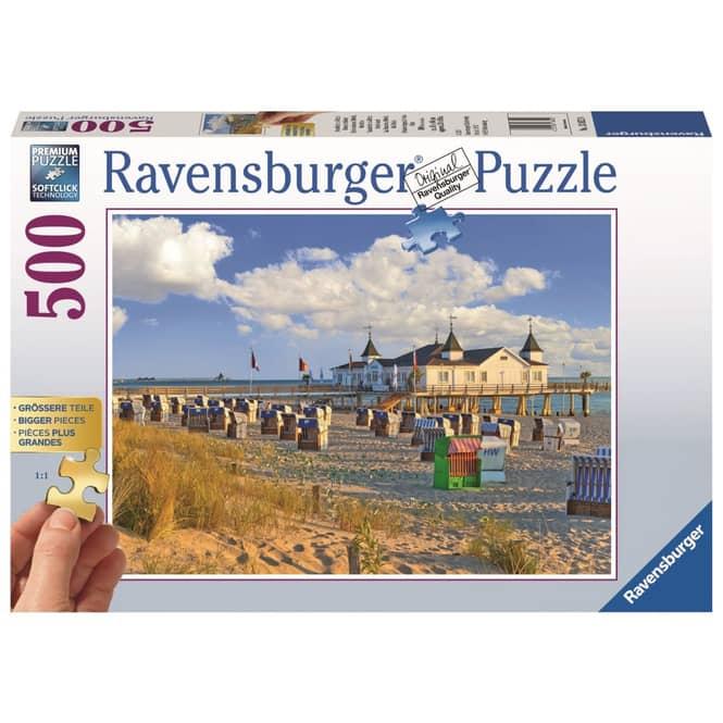 Puzzle - Strandkörbe in Ahlbeck - 500 Teile