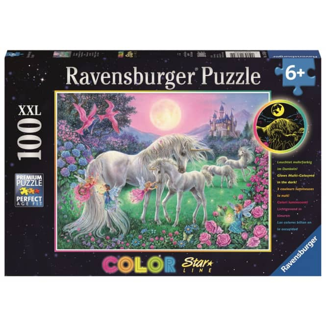 Puzzle - Einhörner im Mondschein - 100 XXL Teile - Color Starline