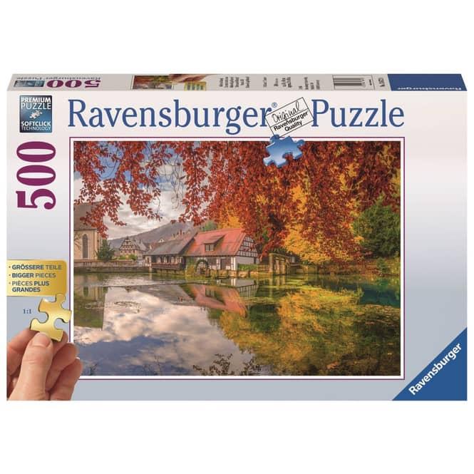 Puzzle - Mühle am Blautopf - 500 Teile