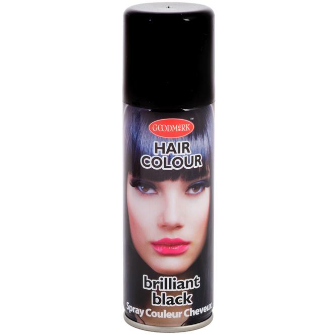 Color-Haarspray - 125 ml - schwarz