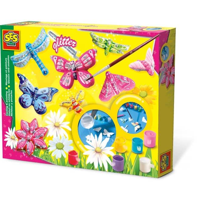 Creativ Gießset  - Schmetterlinge mit Glitzer