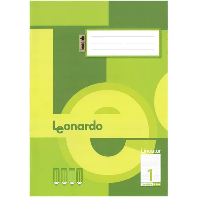 Schulheft DIN A4 liniert - Lineatur 1 -  1. Klasse