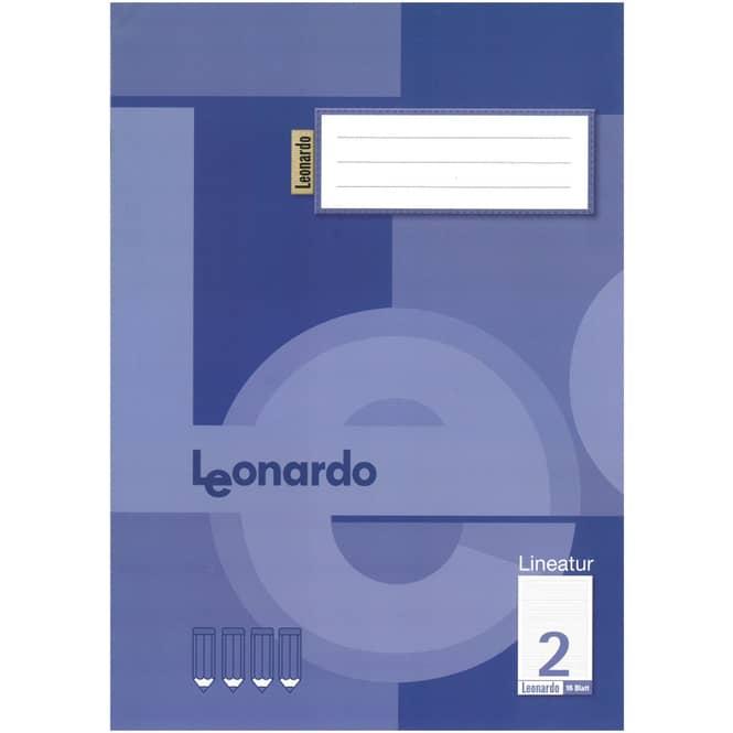 Schulheft DIN A4 liniert - Lineatur 2 -  2. Klasse