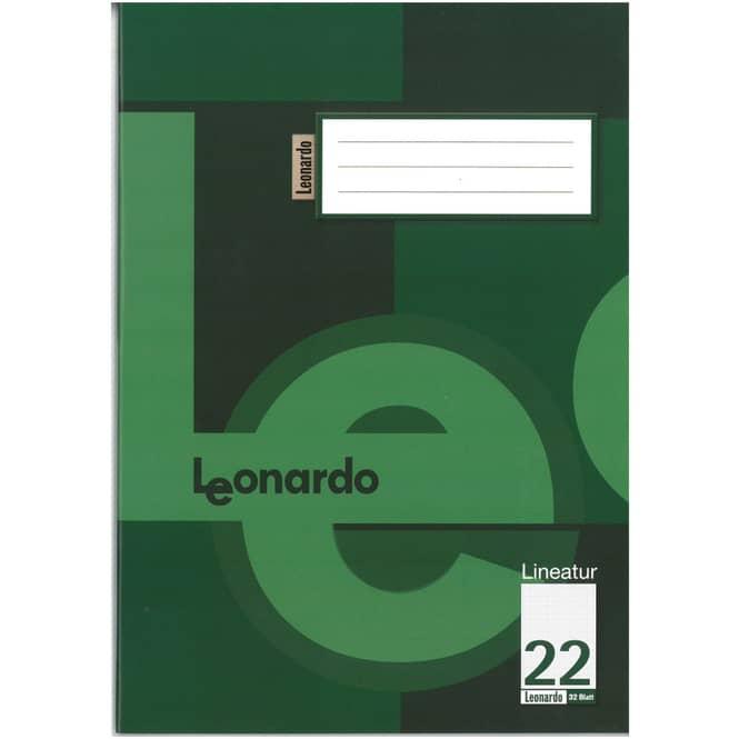 Schulheft - Doppelheft DIN A4 - 32 Blatt - Lineatur 22