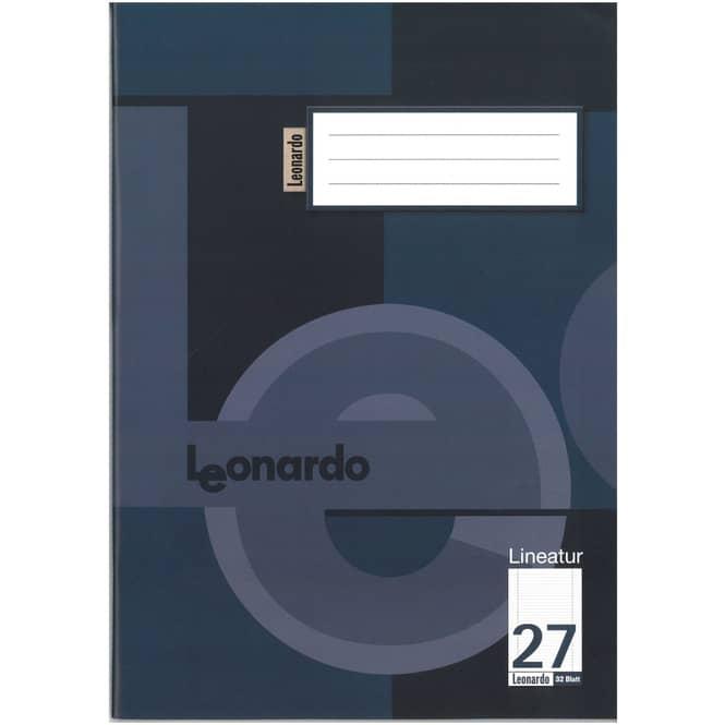Schulheft - Doppelheft DIN A4 - 32 Blatt - Lineatur 27