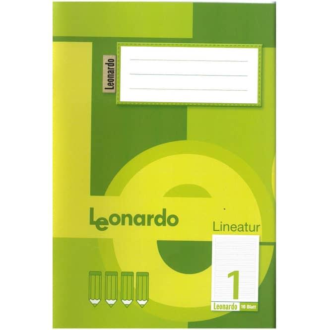 Schulheft DIN A5 liniert - Lineatur 1 - 1. Klasse
