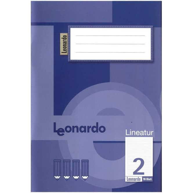 Schulheft DIN A5 liniert -  Lineatur 2 - 2. Klasse