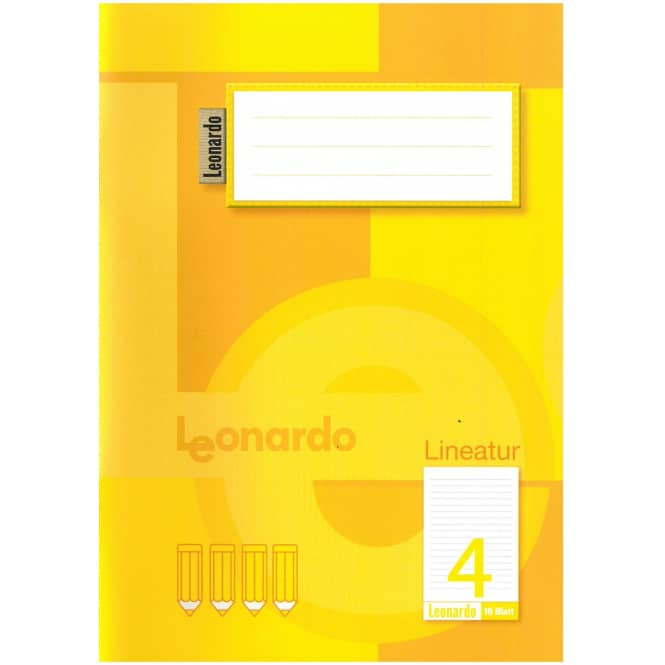Schulheft DIN A5 liniert - Lineatur 4 - 4. Klasse