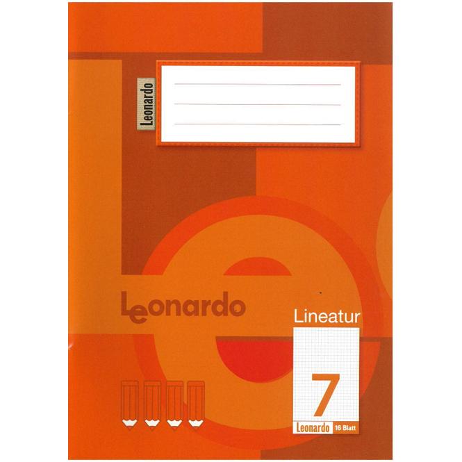 Schulheft DIN A5 kariert - Lineatur 7