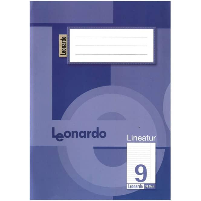 Schulheft DIN A5 liniert mit Rand - Lineatur 9 - 4. Klasse