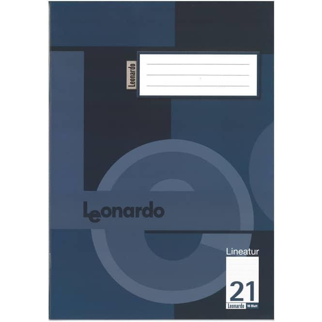 Schulheft DIN A4 liniert ohne Rand - Lineatur 21