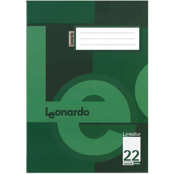 Schulheft DIN A4 kariert ohne Rand - Lineatur 22
