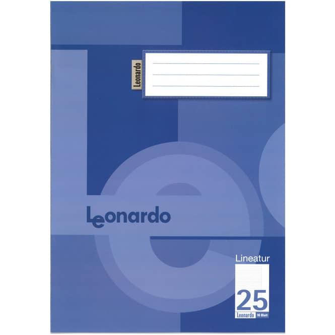 100 Schulhefte DIN A4 liniert mit Rand - Lineatur 25