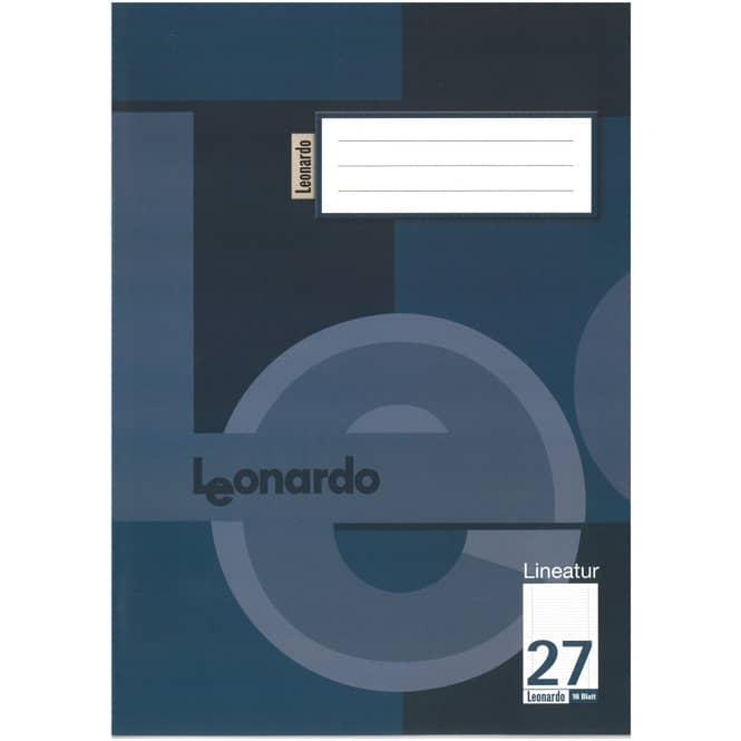 Schulheft DIN A4 liniert mit Doppelrand - Lineatur 27