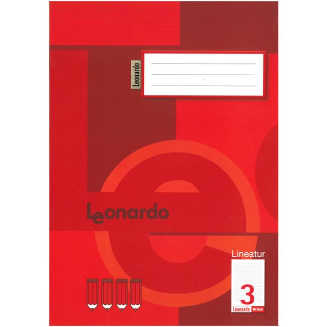 Schulheft DIN A4 liniert - Lineatur 3 - 3. Klasse
