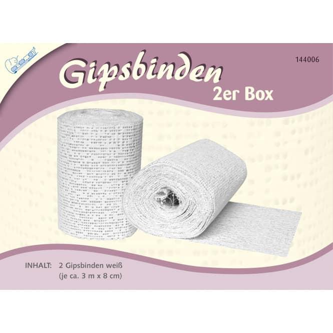Gipsbinden weiß - 2er Box - 3m x 8cm