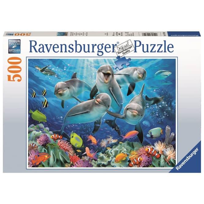 Puzzle - Delfine im Korallenriff - 500 Teile