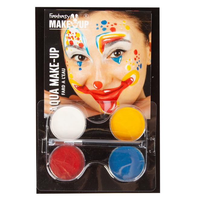Schminkset - Confetti Clown - Make-up mit Zubehör