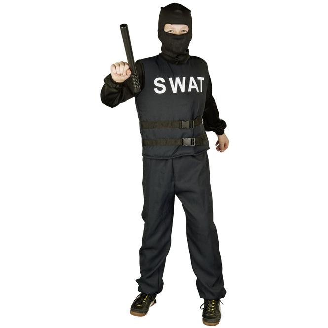 Kostüm - SWAT-Polizist - für Kinder - 3-teilig - Größe 122/128