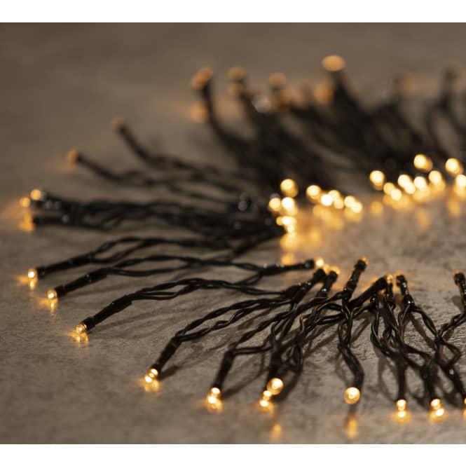 24er LED-Lichterkette - 1,80 m - warmweiß - schwarz
