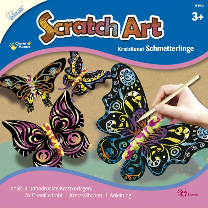 Kratzbilder - Schmetterling