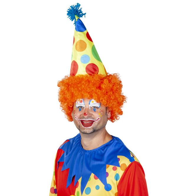 Clownshut mit Haaren - für Erwachsene