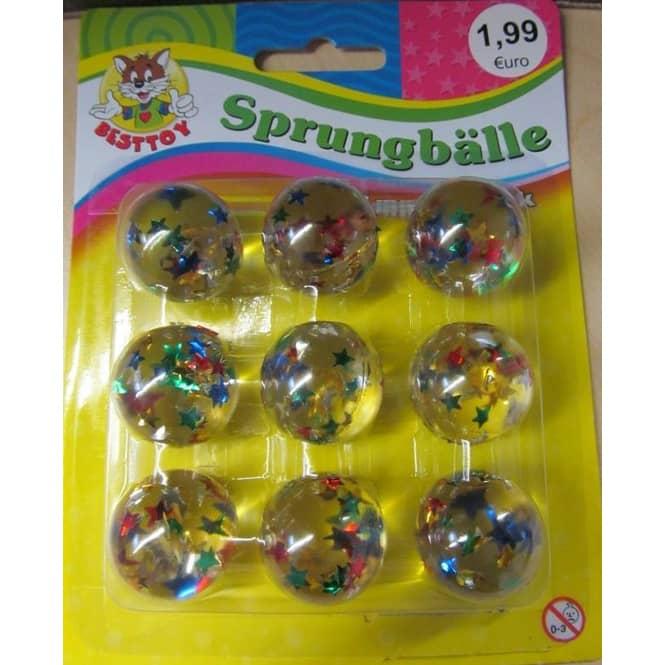 Sprungball-Set - Sterne ca. 27 mm - Besttoy