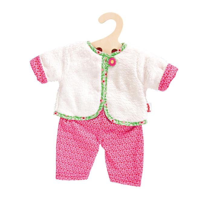 Puppenkleidung - Kuschellige Wendejacke - Blumi - Gr. 35 - 45 cm