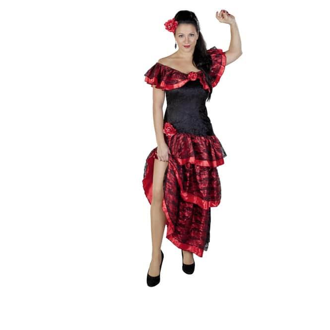 Kostüm - Flamenco-Tänzerin, für Erwachsene, 2-teilig