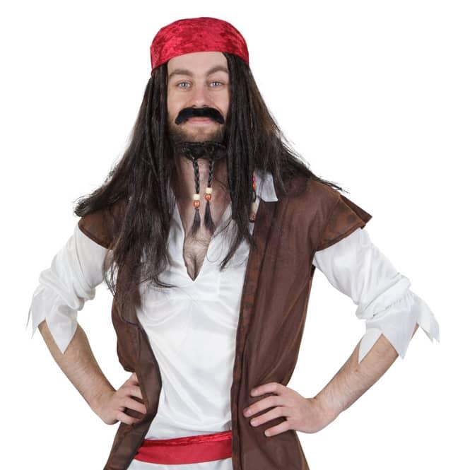 Perücke - Pirat - für Erwachsene