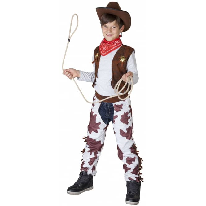 Kostüm - Cowboy - für Kinder - 3-teilig - Größe 122/128