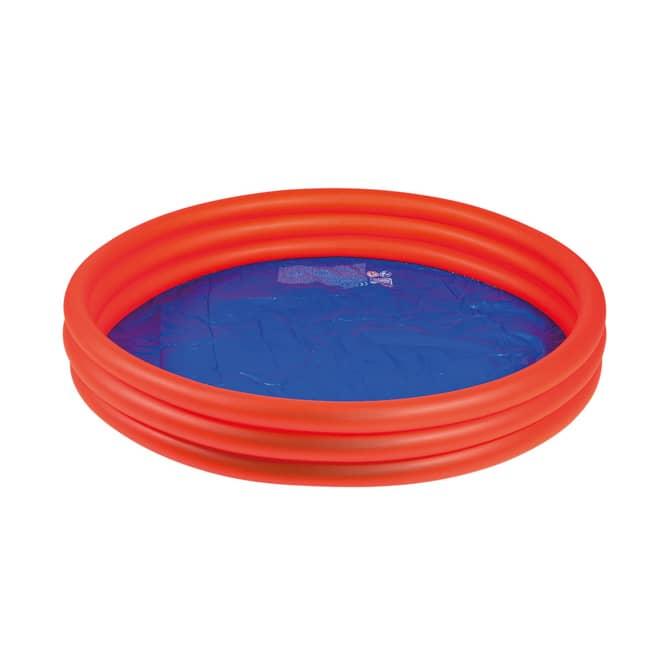 Pool mit 3 Ringen - orange/blau -  Ø ca. 157 cm