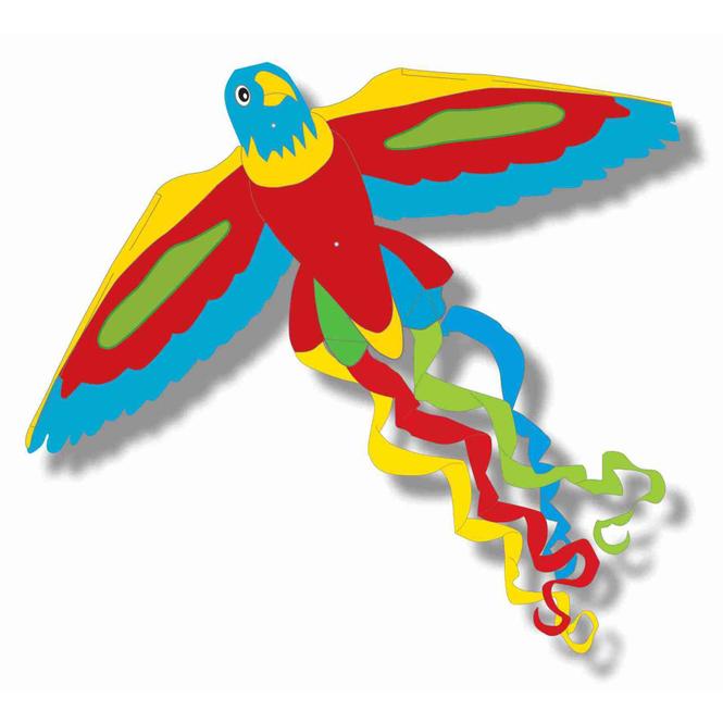 Flugdrachen Papagei - ca. 52 x 122 cm