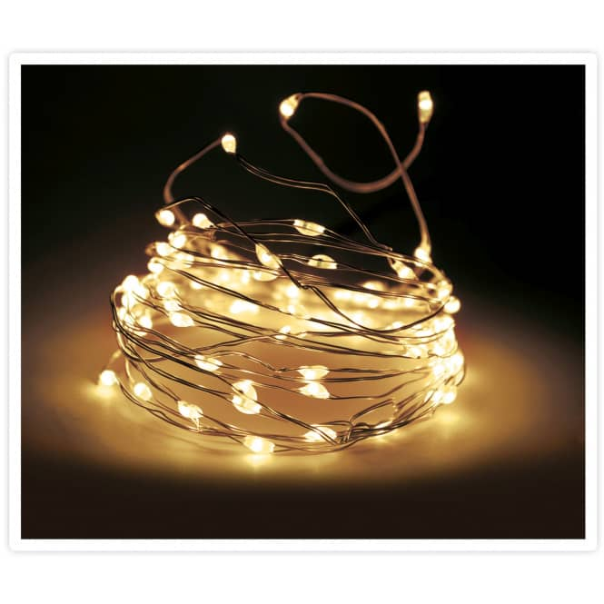 100er LED-Lichterdraht - in gold - 5 m