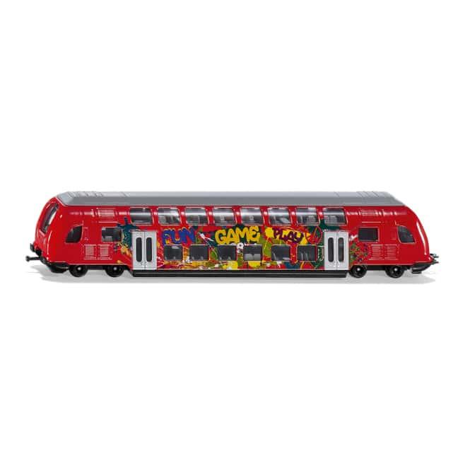 Siku Super 1791 - Doppelstock Zug mit Graffiti