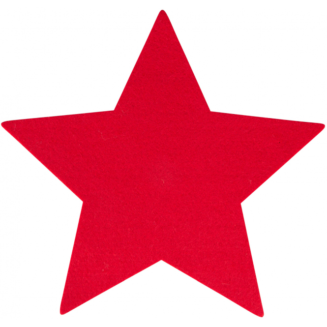 Platzset - Stern - aus Filz - Ø = 35 cm - rot