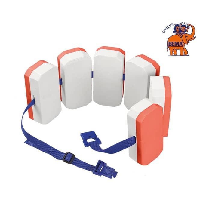 BEMA® Schwimmgürtel -  152x15x7 cm - orange/ weiß