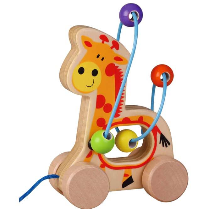 Besttoy - Nachziehtier aus Holz - Giraffe