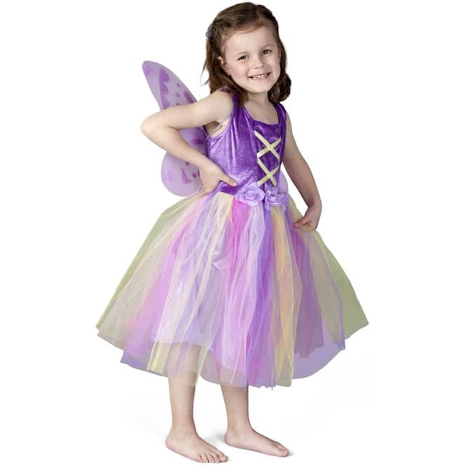 Kostüm - Lilafarbene Blumenfee - für Kinder - 2-teilig - verschiedene Größen
