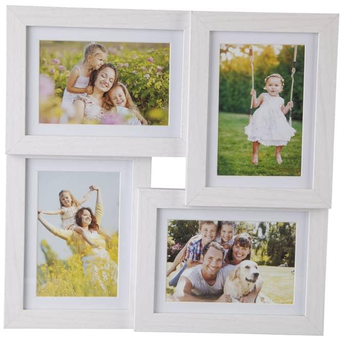 Bildergalerie - aus Holz - 35 x 3,5 x 35 cm - weiß
