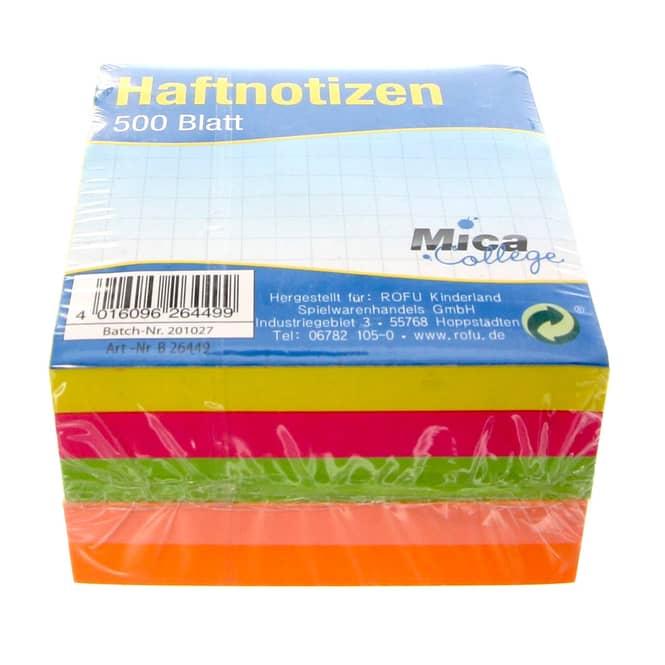 Haftnotizen - 500 Blatt - bunt