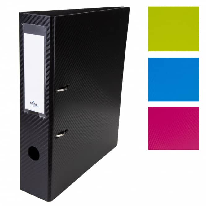 Ordner DIN A4 - breit - Carbon - verschiedene Farben