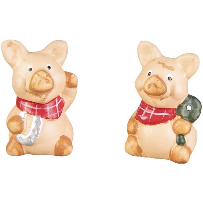 Glücksschwein - aus Terrakotta - ca. 4 x 3,5 x 6,5 cm - 1 Stück