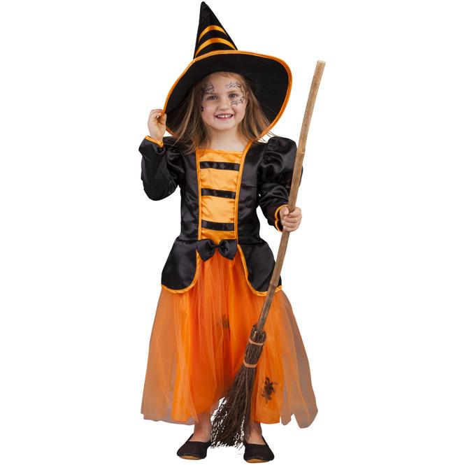 Kostüm - Spinnenhexe - für Kinder - 2-teilig - verschiedene Größen