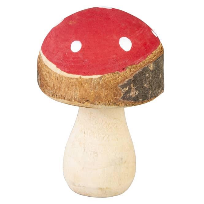 Fliegenpilz - aus Holz - ca. 9 cm - in rot/braun