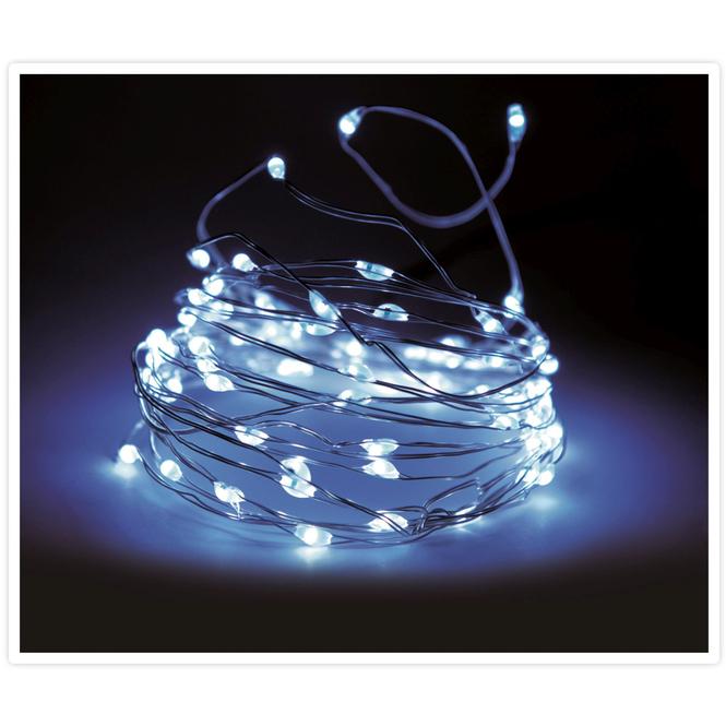 100er LED-Lichterdraht - 5 m - kaltweiß